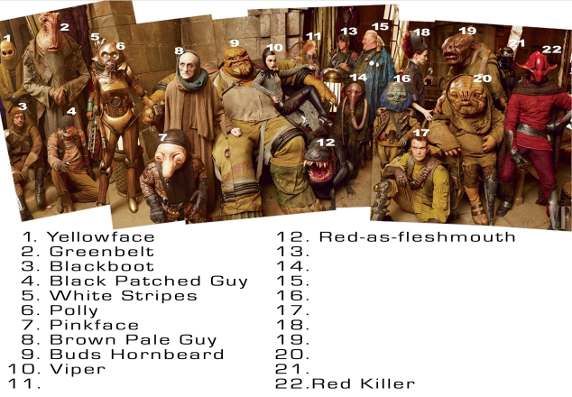 Hey, let's start a rumor that this image came directly from Lucasfilm and these are the real names of the characters. No? OK.