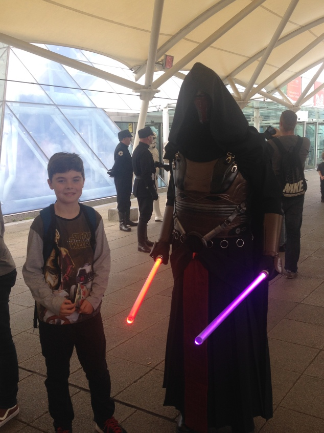 Nick with Darth Revan on way in