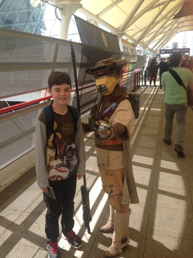 NIck with Leia in Boushh disguise