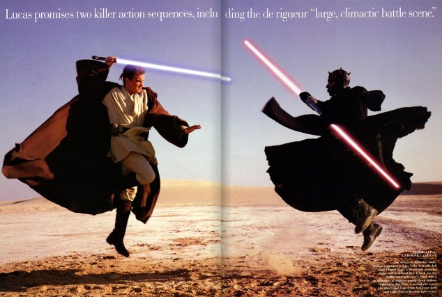 liebovits photo obi wan and maul on tatooine